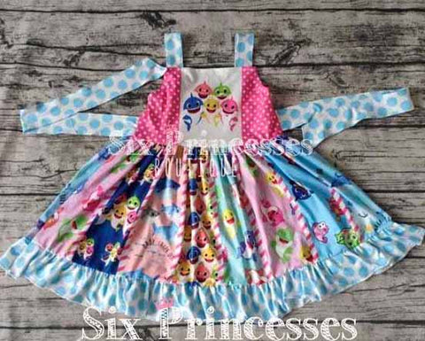 Baby Shark Panel Twirl Dress