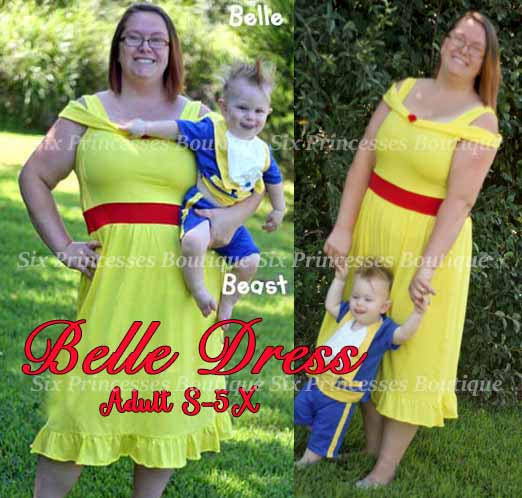 Princess Mommy Dress - Adult Size Belle Inspired Disney Costume
