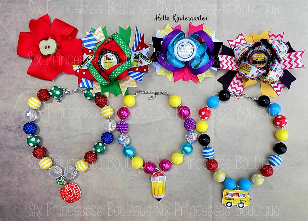 Back to School Accessories Necklaces & Bows