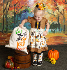 Halloween Print Ruffle Dress