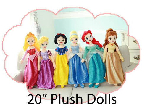 #3739 WHOLESALE Plush Princess Dolls