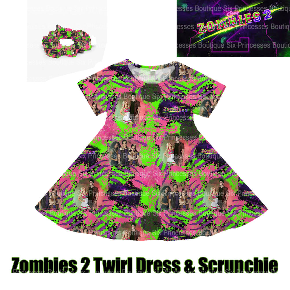 Disney Zombies 2 Inspired Twirl Dress Werewolves!