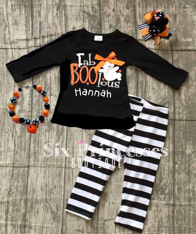 Fab-Boo-Lous Ghost Top/Leggings Set Outfit