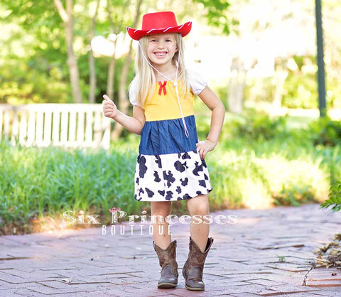 Princess Dress - Jessie Inspired Toy Story Cowgirl