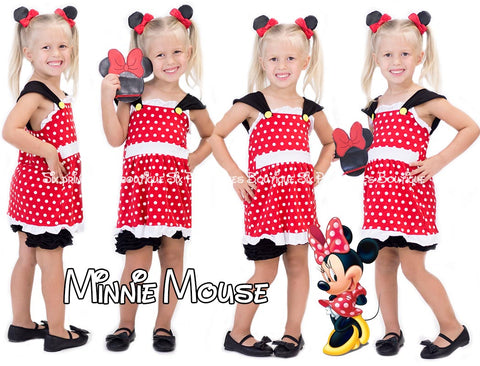 Shorts Set Minnie Mouse Inspired Disney Princess