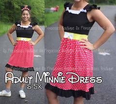 Princess Mommy Dress - Adult Size Minnie Inspired Disney Costume Regular & Plus Sizes