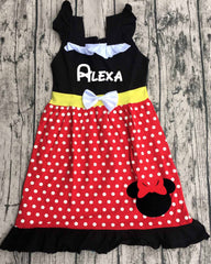 Princess Dress - Minnie Mouse Inspired
