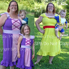 Princess Mommy Dress Adult Size Belle Rapunzel Pirate