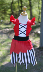 Princess Dress - Red Pirate Girl inspired