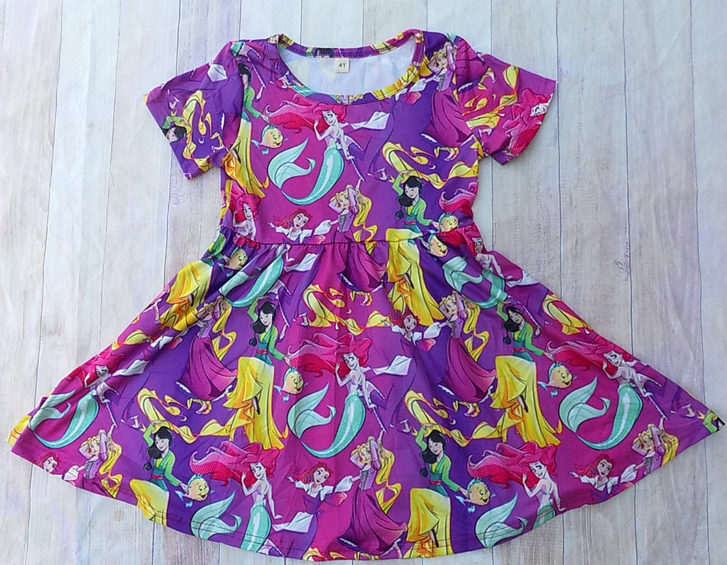 Disney Princess Twirl Dress Mulan Rapunzel Ariel