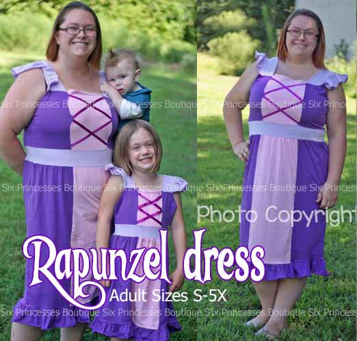 Princess Mommy Dress - Adult Size Rapunzel Inspired Disney Costume