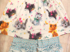 Retro Kitty Shorts Set Icing Shorts/Flutter Tunic Outfit