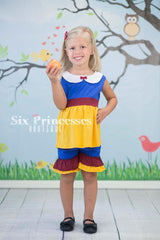 Princess Shorts Set Snow White Inspired Disney Princess