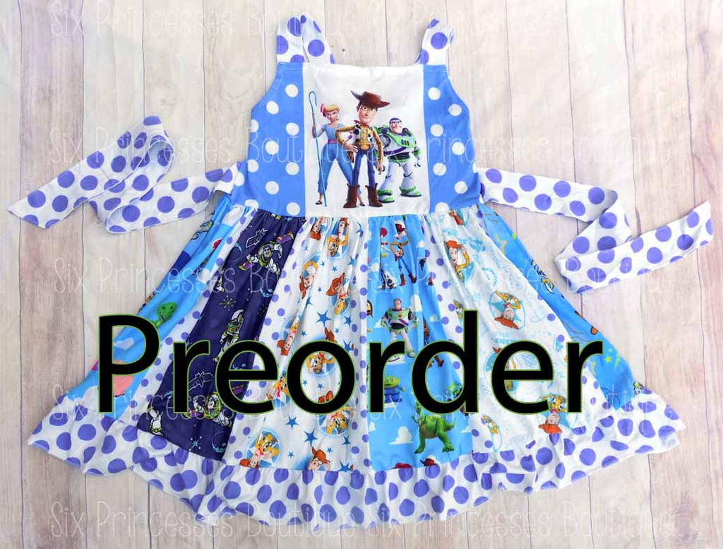 PREORDER Toy Story 4 Panel Twirl Dress Disney Inspired Personalized
