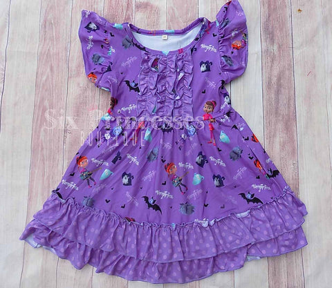 Vampirina Ruffle Print DRESS Disney Princess