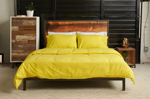 epillowcases | all nighter citron | metal bed | bedface