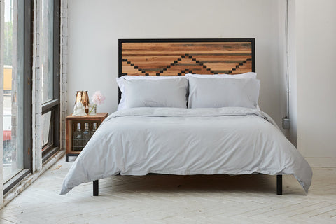 epillowcases | feather grey | metal bed | bedface