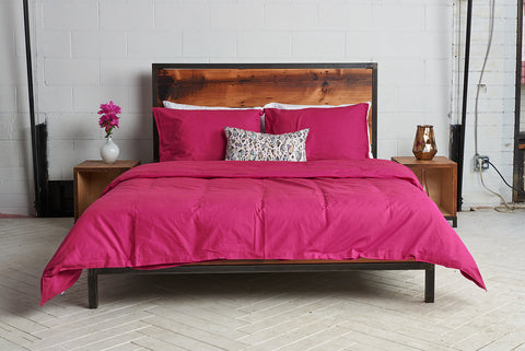 eduvet cover | siesta pink | metal bed | bedface