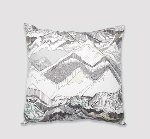 Nadine Nevitt Mountain Throw Pillow Sea To Sky Vancouver