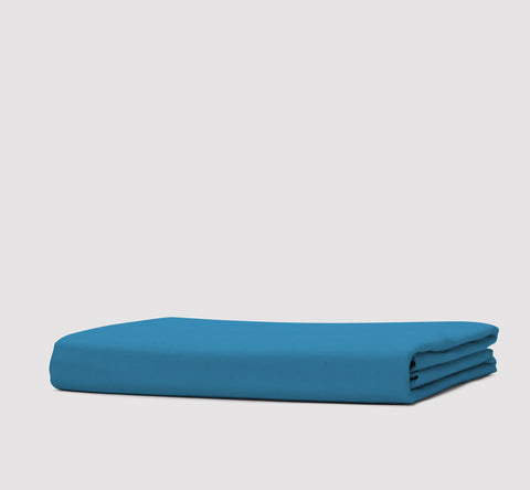 fitted sheet | coastal blue | bedface