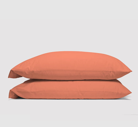 pillowcases | sunrise coral | bedface