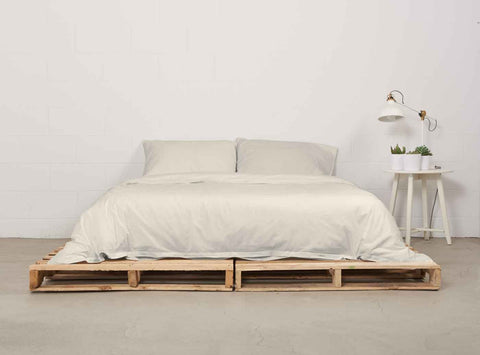 eduvet cover | natural | pallet bed | bedface