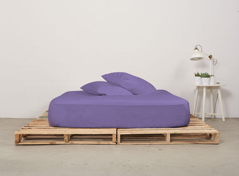 efitted sheet | twilight | pallet bed | bedface