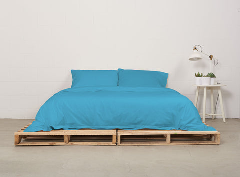 eduvet cover | sky blue | pallet bed | bedface