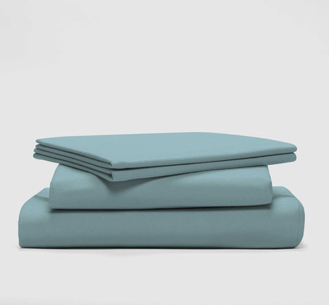 esleep set | seabreeze teal | bedface