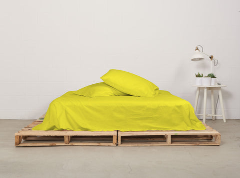 eflat sheet | all nighter citron | pallet bed | bedface