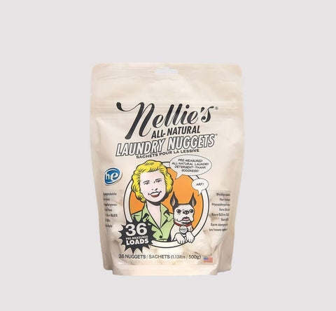 Nellie's all natural laundry nuggets available at bedface