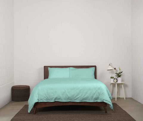 esuper sleep set | spring green | wood bed | bedface