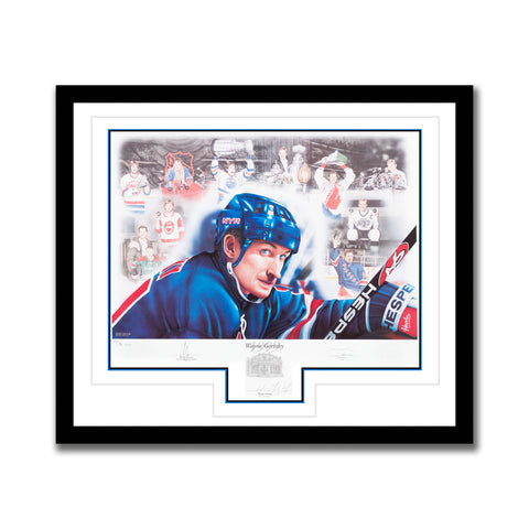 Wayne Gretzky Autographed 20th Anniversary Limited Edition 1999 HHOF Induction Print
