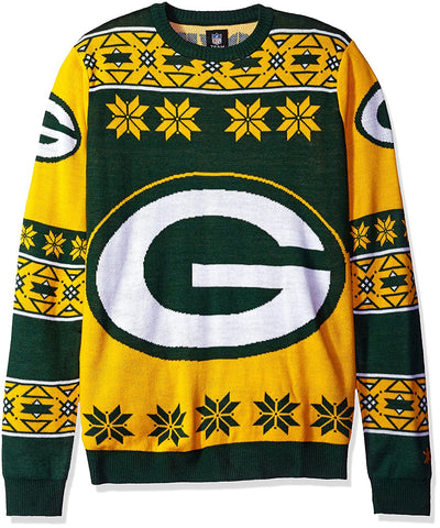 Green Bay Packers NFL Big Logo Ugly Sweater