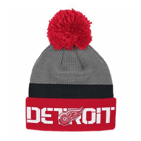 Detroit Red Wings Cuffed Pom Knit Toque