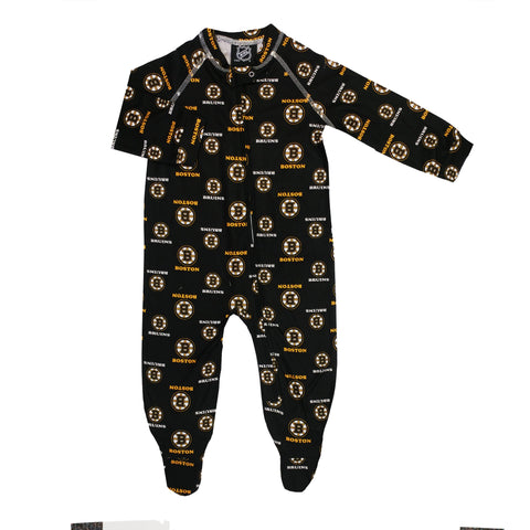 Infant Boston Bruins NHL Raglan Zip Up Coverall