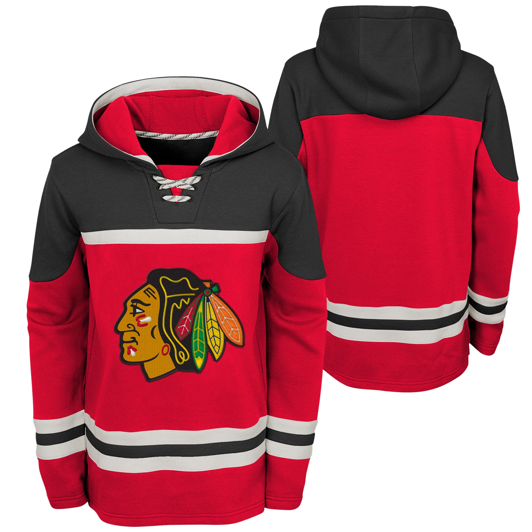 promo code a1048 672a3 Youth Chicago Blackhawks NHL Asset Hockey Hoodie