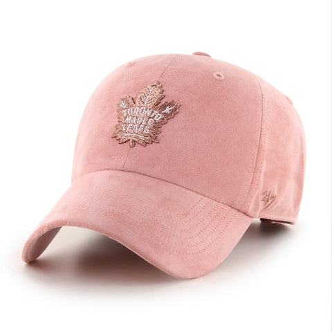 Women's Toronto Maple Leafs NHL Uptown Suede Pink Clean Up Cap