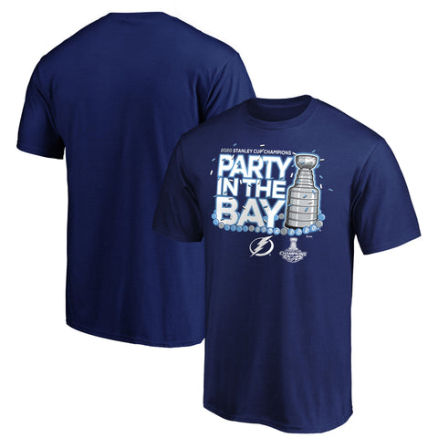 Men's Tampa Bay Lightning NHL 2020 Stanley Cup Champions Parade Celebration Last Stop T-Shirt - Blue