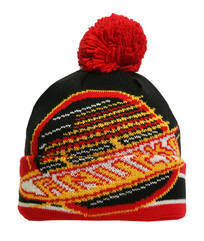 Vancouver Canucks Oversized Logo Cuffed Pom Knit Toque