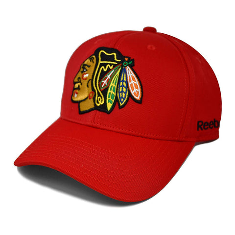 Chicago Blackhawks NHL Reebok Big Logo Velcro Cap
