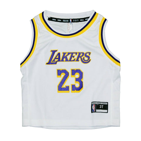 Toddler's LeBron James Los Angeles Lakers NBA Replica Road Player Jersey