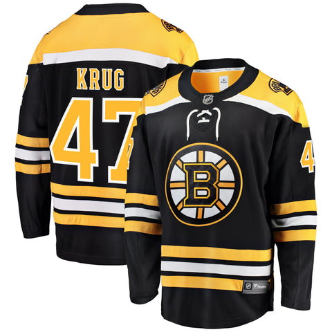 Torey Krug Boston Bruins NHL Fanatics Breakaway Home Jersey