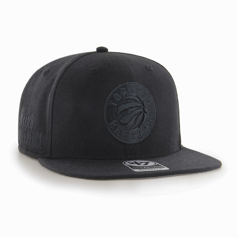 Men's Toronto Raptors NBA Black-On-Black Sure Shot Captain Cap