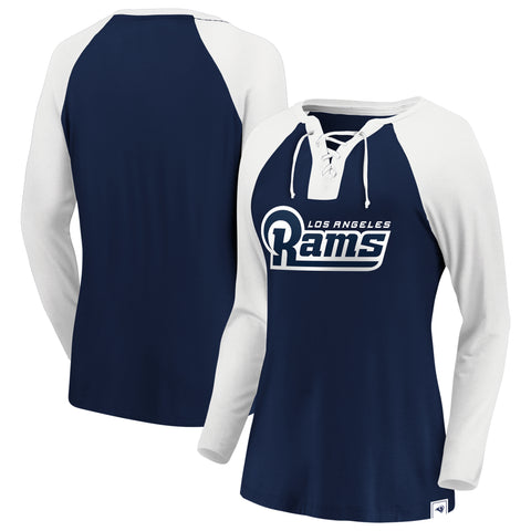 Ladies' Los Angeles Rams NFL Fanatics Break Out Play Lace-Up Long Sleeve