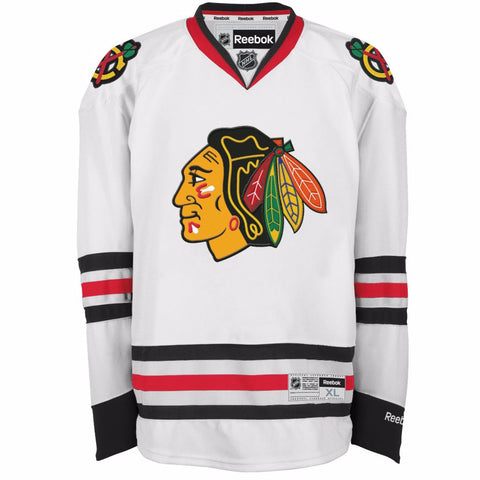 Men's Chicago Blackhawks NHL Reebok Premier White Away Jersey