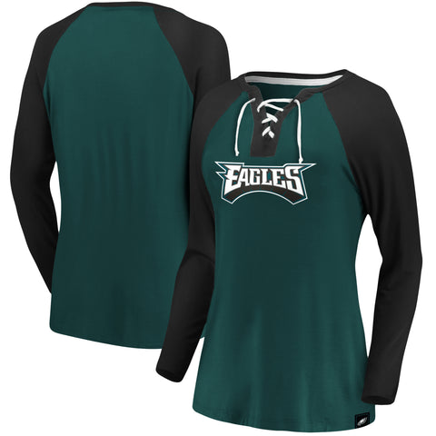 Ladies' Philadelphia Eagles NFL Fanatics Break Out Play Lace-Up Long Sleeve