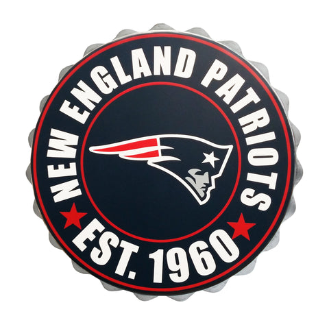 New England Patriots Bottle Cap Wall Logo