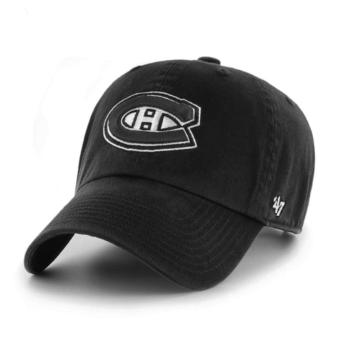 Montreal Canadiens NHL Monochrome Logo Clean Up Cap