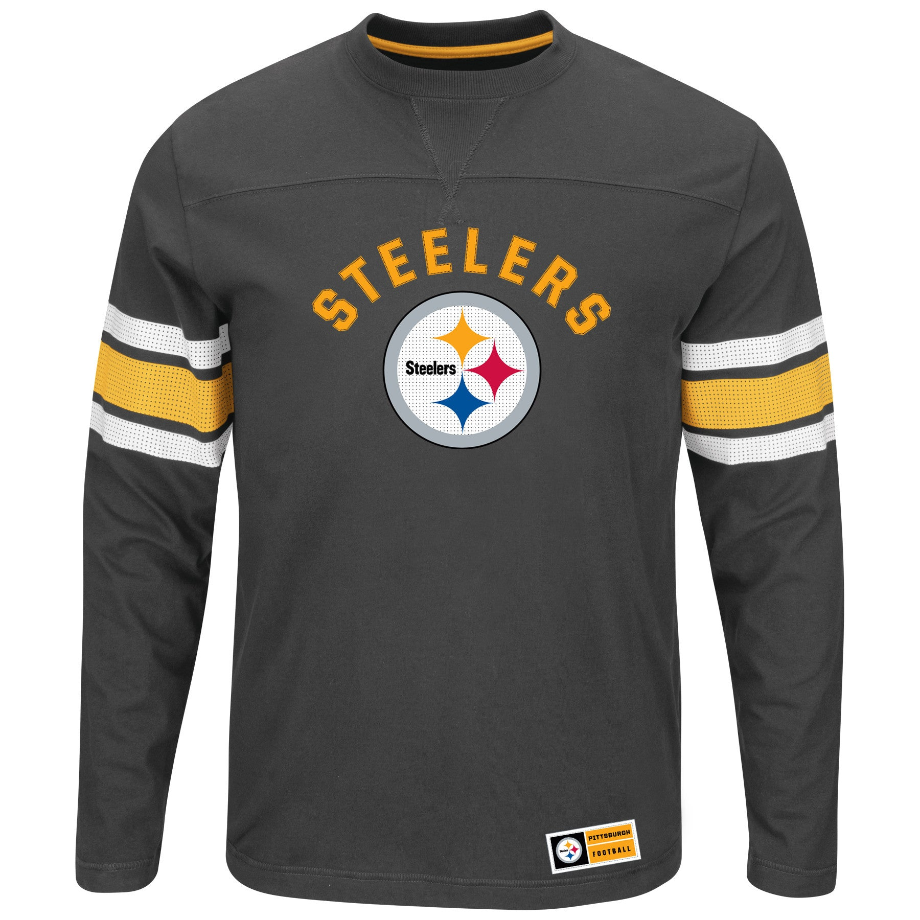 watch 0b286 92900 Pittsburgh Steelers Power Hit Long Sleeve Tee